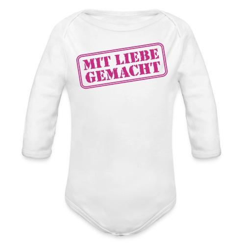 MIT LIEBE GEMACHT, Baby-Body, Rosa - Baby Bio-Langarm-Body