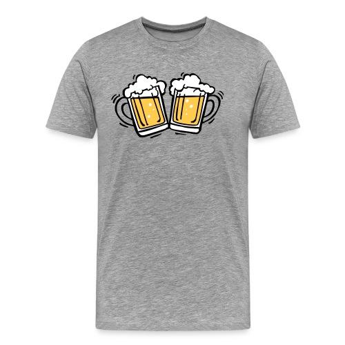 Bierglazen T-shirt - Mannen Premium T-shirt