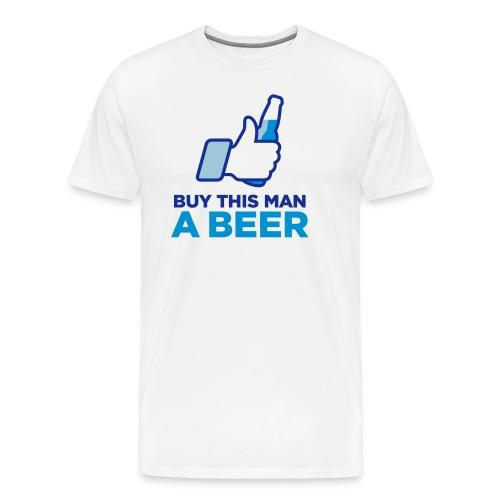 Buy This Man a Beer T-shirt - Mannen Premium T-shirt