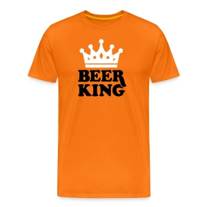 Beer King T-shirt  - Mannen Premium T-shirt