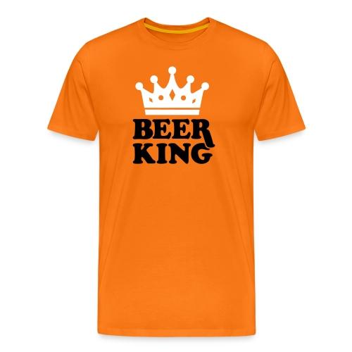 Beer King T-shirt  - Mannen Premium T-shirt