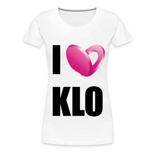 I Love Klo - Frauen Premium T-Shirt