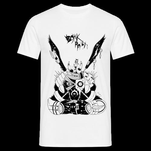 femme manga sur grand lapin noir Dark Rabbit steampunk - T-shirt Homme