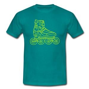 Inlineskates (neon-gelb) - Männer T-Shirt