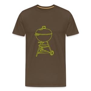 Grill (neon-gelb) - Männer Premium T-Shirt