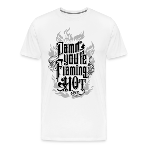 Flaming Hot (BlackNWhite) (unisex) - Herre premium T-shirt