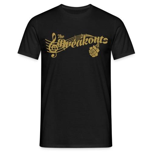 Gold glitter - T-shirt herr