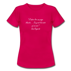 page blanche - T-shirt Femme