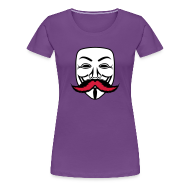 Tee shirts ~ T-shirt Premium Femme ~ Anonymous Anonymoustache