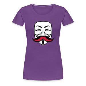 Anonymous Anonymoustache - T-shirt Premium Femme