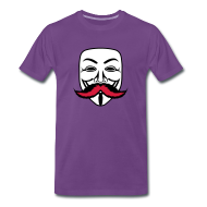 Tee shirts ~ T-shirt Premium Homme ~ Anonymous Anonymoustache