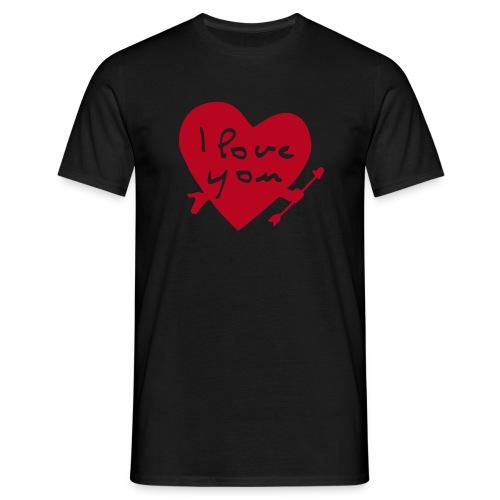 Liebe S hirt - Männer T-Shirt