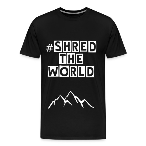 #shredtheworld T-Shirt //black&white - Männer Premium T-Shirt