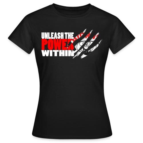 Unleash the POWER - Sort - T-skjorte for kvinner