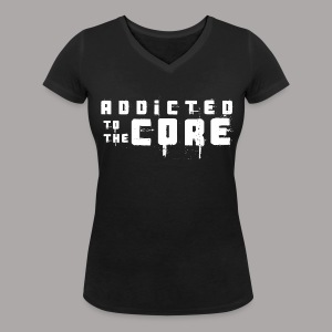 EDDY HARDCORE ADDICTED TO THE CORE / T-SHIRT LADY #1 - Vrouwen bio T-shirt met V-hals van Stanley & Stella