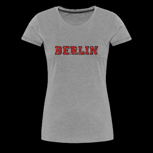 Berlin T-Shirt (Damen Schwarz/Rot) Vintage - Frauen Premium T-Shirt