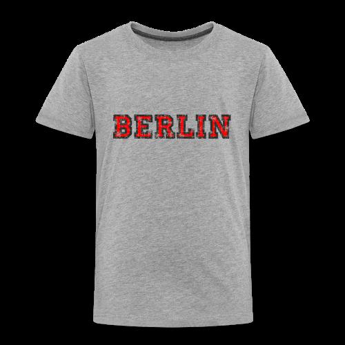 Berlin T-Shirt (Kinder Schwarz/Rot) Vintage - Kinder Premium T-Shirt