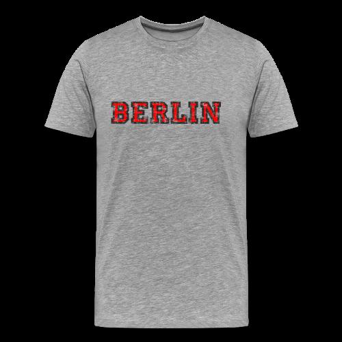 Berlin T-Shirt (Herren Schwarz/Rot) Vintage - Männer Premium T-Shirt