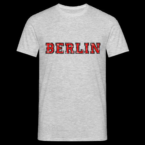 Berlin T-Shirt (Herren Schwarz/Rot) Vintage - Männer T-Shirt