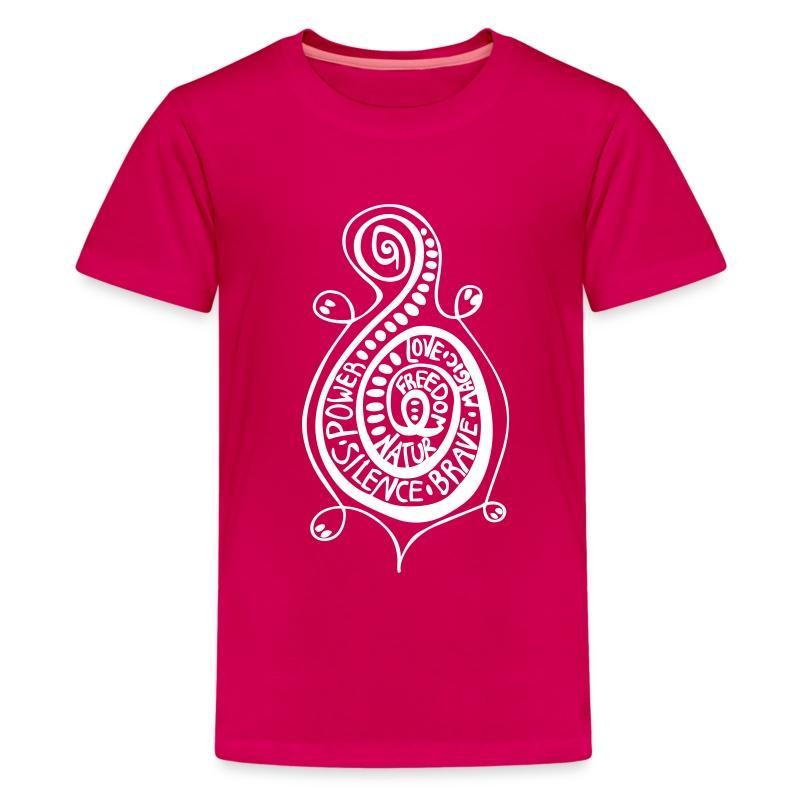 Kringel Schildkröte Teen T-Shirt - Teenager Premium T-Shirt