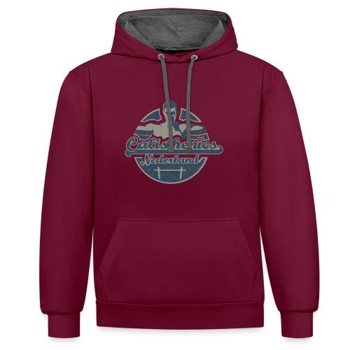 Blauw Logo   Contrast Hoodie - Contrast hoodie