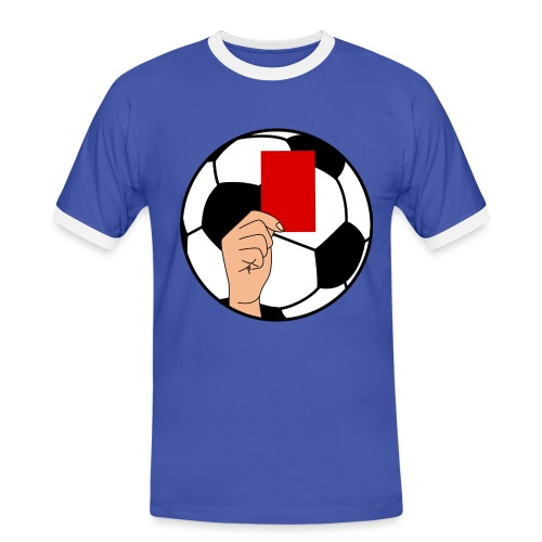 Football carton rouge - Men's Ringer Shirt