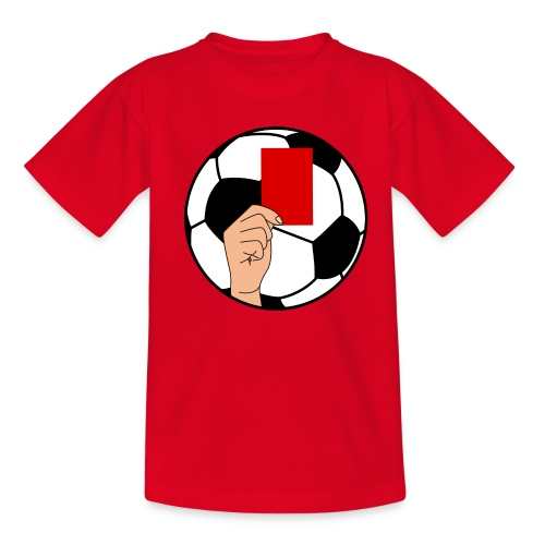 Football carton rouge - Kids' T-Shirt
