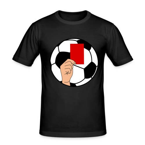Football carton rouge - Men's Slim Fit T-Shirt