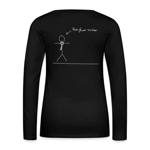 Langarmshirt - Frauen - Feuer S/W - Frauen Premium Langarmshirt