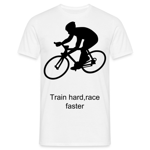Rennrad train hard - Männer T-Shirt