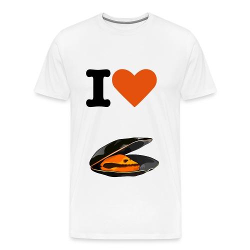 Tee Shirt  I love logo moules   - T-shirt Premium Homme
