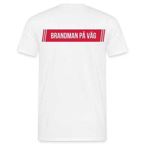 Brandman på väg - En för alla - T-shirt herr