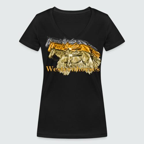 Motiv-193-Schwarz-Braun - Frauen Bio-T-Shirt mit V-Ausschnitt von Stanley & Stella