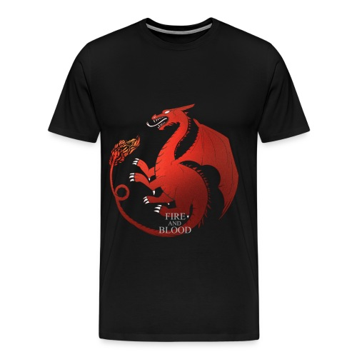 Fire and Blood - T-shirt Premium Homme