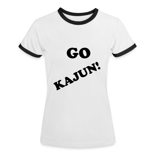 Go Kajun - Supporter Shirt Women - Frauen Kontrast-T-Shirt