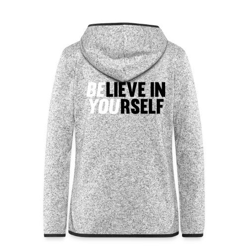 fleece jack with text - Vrouwen hoodie fleecejack