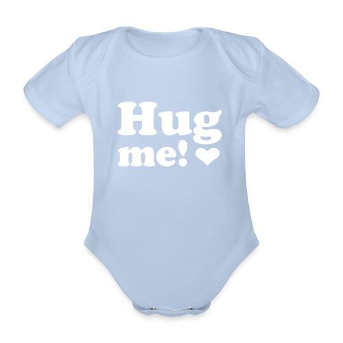 bodysuit with text - Baby bio-rompertje met korte mouwen