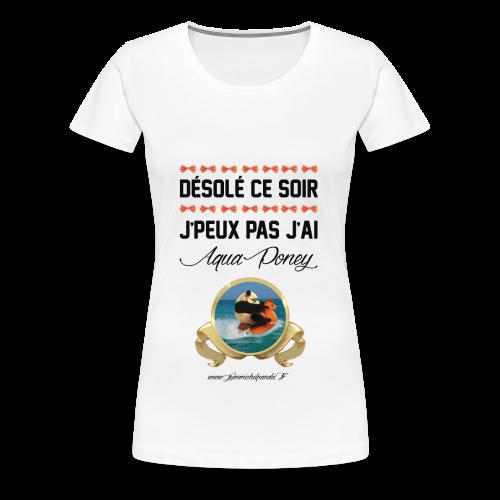 Tshirt femme Aqua Poney - T-shirt Premium Femme