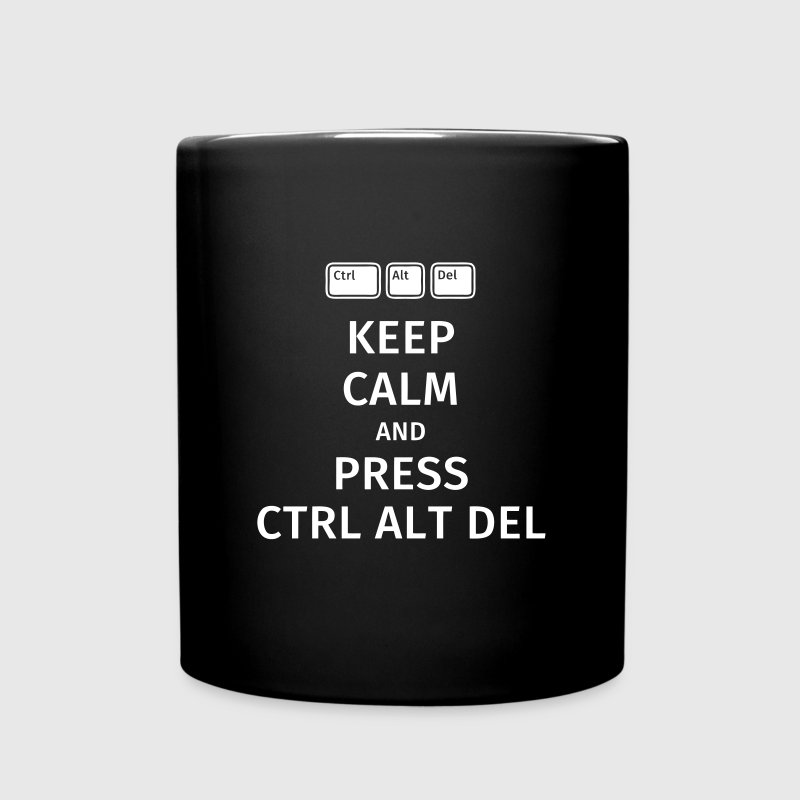 keep calm and press ctrl alt del Mokken & toebehoor - Mok uni