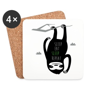 Sleep-Eat-Sleep-Repeat - Coasters (set of 4)