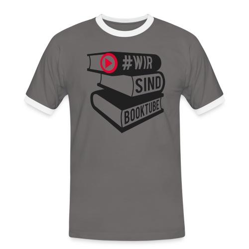 #wirsindbooktube Shirt - Männer Kontrast-T-Shirt