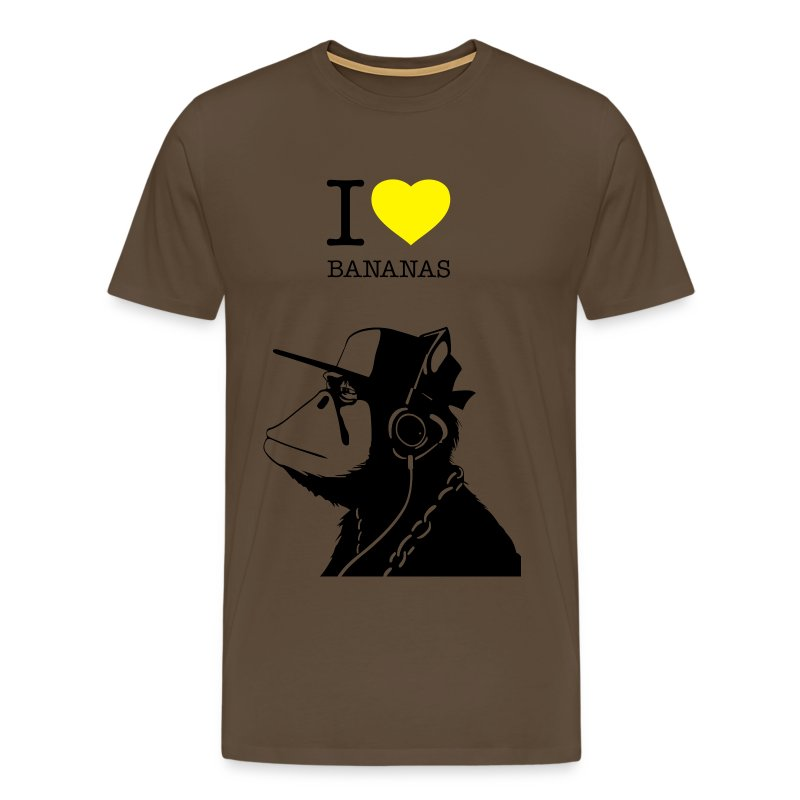 I LOVE BANANAS - Männer Premium T-Shirt