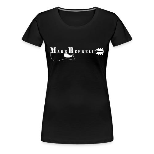 Logo Fan shirt (W) Druck weiß, vorn - Frauen Premium T-Shirt