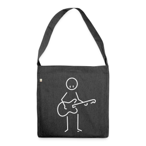 Bass guitar - Shoulder Bag made from recycled material