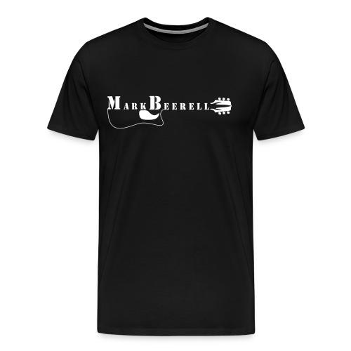 Logo Fan shirt (M) Druck weiß, vorn - Männer Premium T-Shirt