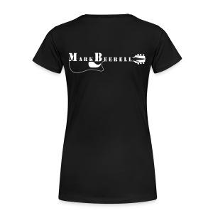 Logo Fan shirt (W) Druck weiß, hinten - Frauen Premium T-Shirt