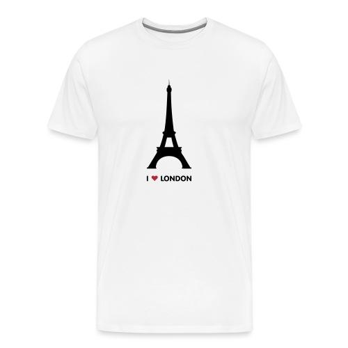 I love London mannen premium - Mannen Premium T-shirt