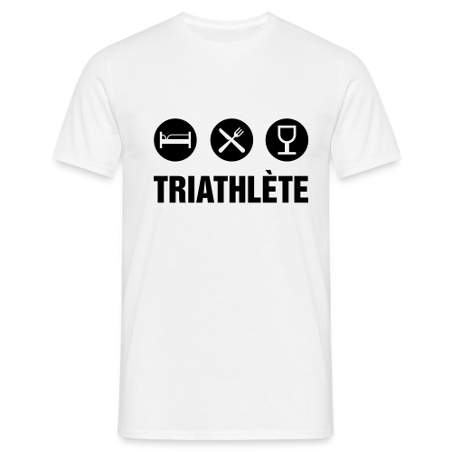 TRIATHLON NOIR - T-shirt Homme