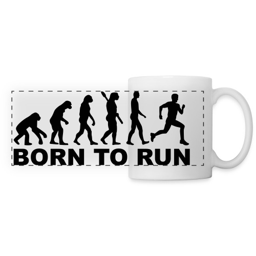 Tasse Born To Run - Mug panoramique contrasté et blanc