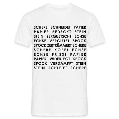 Stein, Schere, Spock T Shirt - Männer T-Shirt